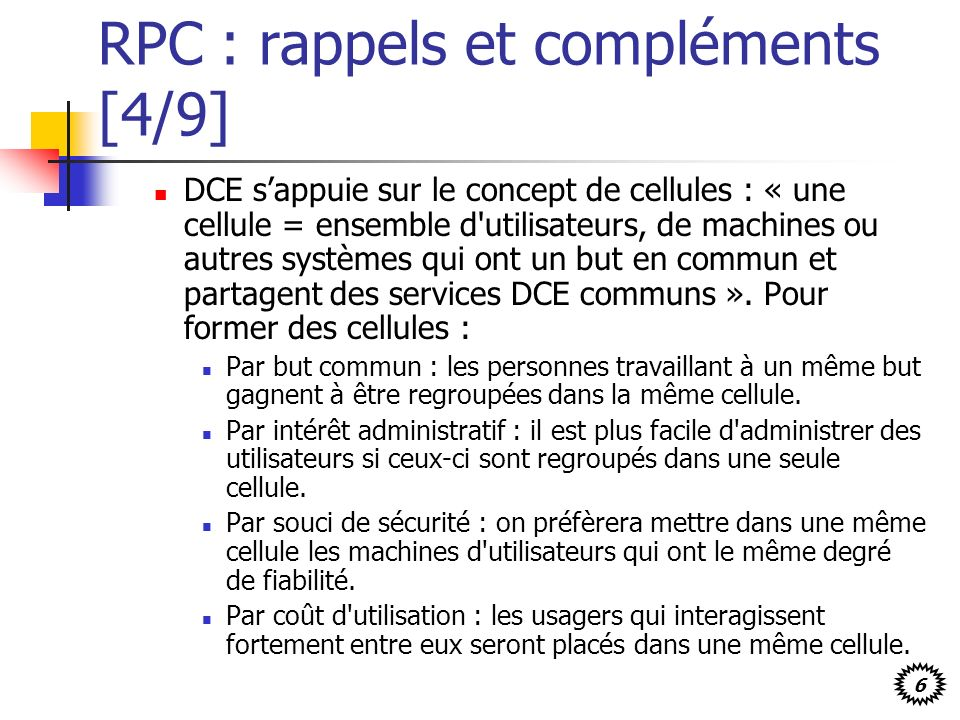 RPC : rappels et compléments [4/9]